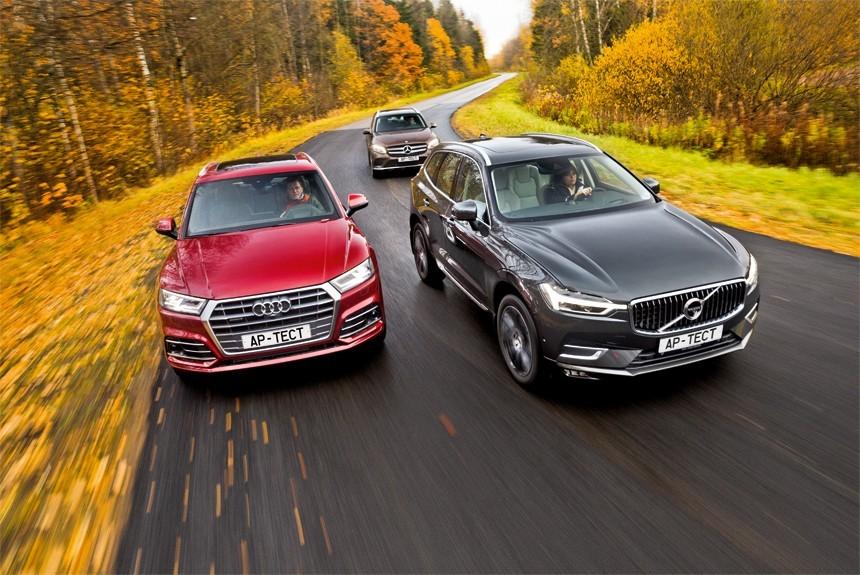 Выше, быстрее и универсальнее! Новейшие Volvo XC60 и Audi Q5 против Мерседеса GLC
