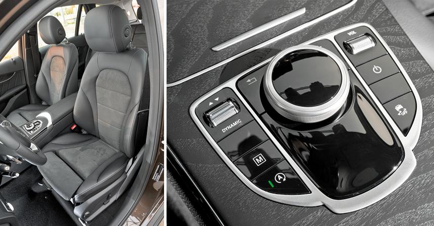 • AMG-кресла Мерседеса не менее рельефны, чем спортивные в Audi и Volvo. А выбор «стульев» столь же широк: есть еще стандартные (пошире) и мультиконтурные — с вентиляцией и без<br>• Управлять инфо-развлечениями спомощью шайбы в Мерседесе куда удобнее без нахлобучки тачпада за десять тысяч рублей