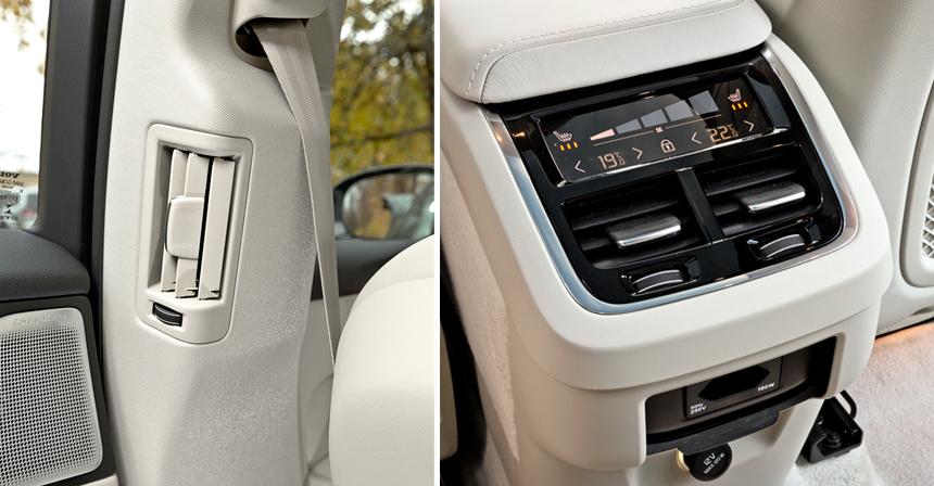 • Воздуховоды на средних стойках как идентификатор автомобиля для сурового севера — только у Volvo<br>• Электроподогрев заднего дивана в списке опций есть у всех, а вот четырехзонный климат-контроль — лишь у Volvo. УМерседеса и Audi за доплату максимум три зоны