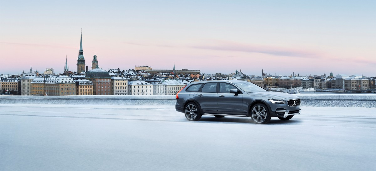 Новый Volvo V90 Cross Country Зима
